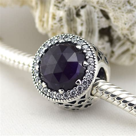 Pandora Radiant Hearts With Royal Purple And Clear Cz Ch P 751 fit for pandora bracelets newest 925 sterling silver charms jewelry radiant hearts royal