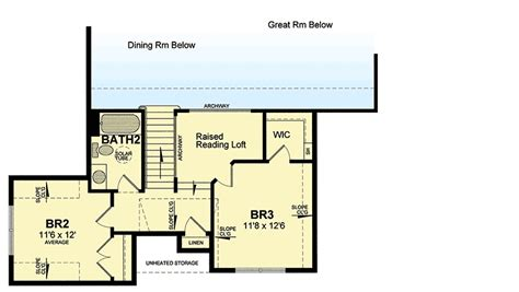 reading a floor plan traditional house plan with raised reading loft 19527jf