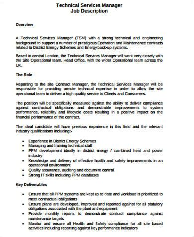 Service Director Description by Maintenance Director Description Industrial Maintenance Supervisor Resume Sle Building