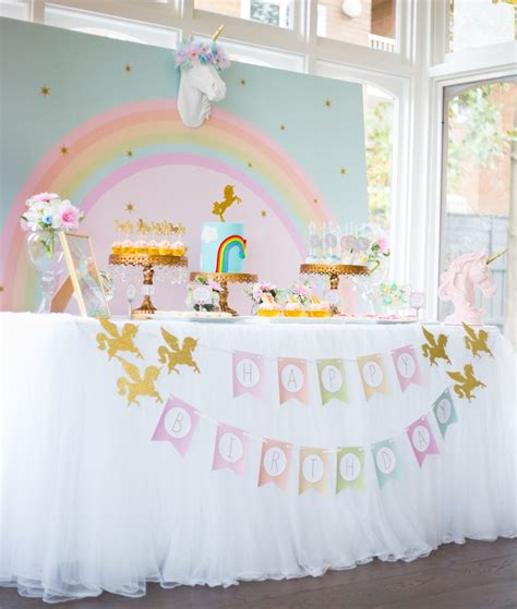 themes for birthday pictures unicorn birthday party pinteres