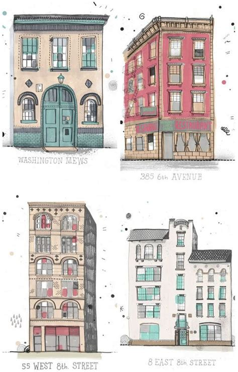 all the buildings in new york jealous building and illustrations