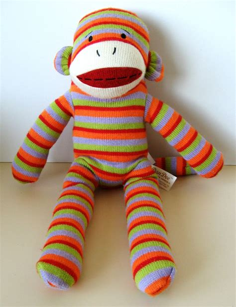 sock animals by daniel dan collector s choice striped sock monkey doll 19