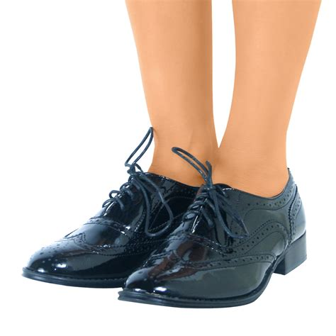 oxford flat shoes lace up brogue shoes womens flat oxford smart work