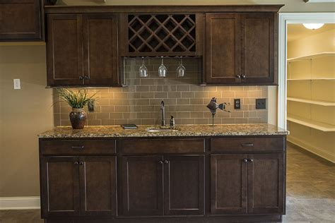 How To Make A Wine Rack In A Kitchen Cabinet Wet Bar Hansman Custom Homes