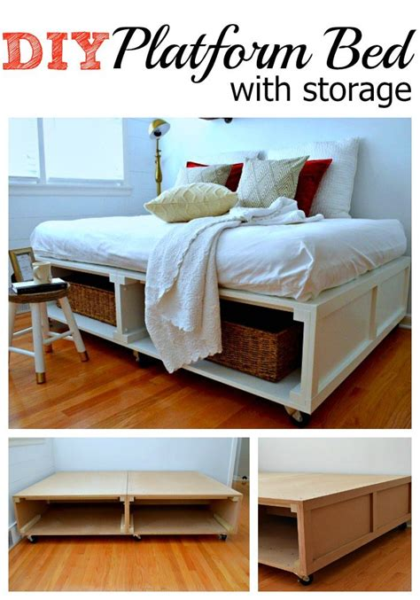 how to make a platform bed with storage 25 easy diy bed frame projects to upgrade your bedroom