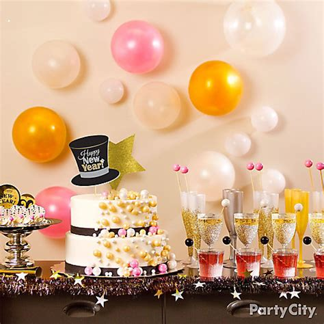 themes for new year house party nye bubble theme chagne table party city