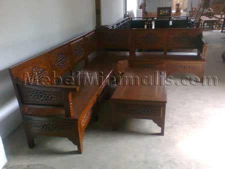 Satu Set Meja Kursi Sudut Warna Hitam Gold Free Ongkir Furniture Ukir 119 kursi tamu monaco mewah kursi tamu sofa kayu jati