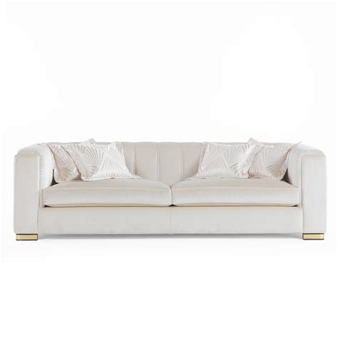 high end designer velvet luxury 3 seater sofa