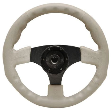 pontoon steering wheel harris kayot pontoon boat 13 1 2 inch light taupe vinyl