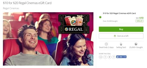 Regal Cinemas E Gift Card - regal cinemas and dunkin donuts 50 off deals targeted frequent miler