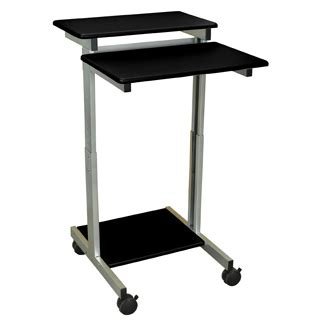 Narrow Stand Up Laptop Desk Height Adjustable Computer Stand Up Laptop Desk