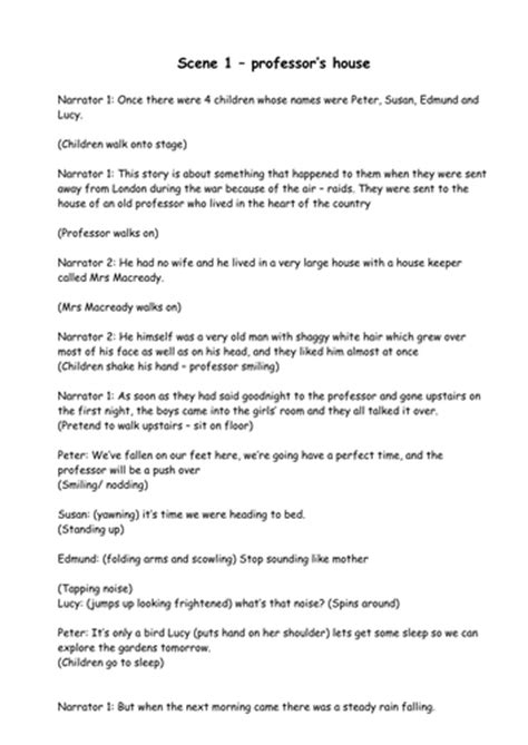 The The Witch And The Wardrobe Play Script Pdf by Y6 Leavers Assembly This Is Your By Uk Teaching