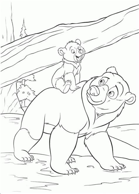 brother bear 2 coloring pages coloringpagesabc com