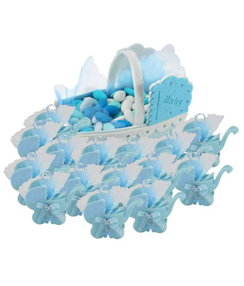 porta confetti porta confetti carrozzina azzurra nascita battesimo ebay
