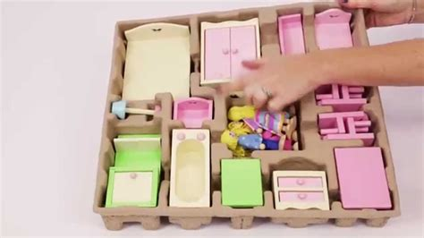 wooden dolls house furniture set unboxing george at asda s new wooden dolls house furniture youtube
