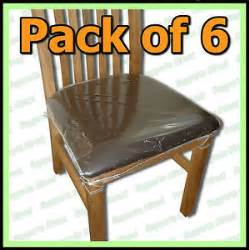 Dining chair protectors clear plastic cushion seat covers protection