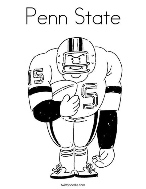 penn state coloring page twisty noodle