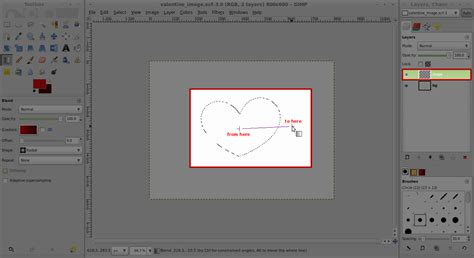 layout tutorial gimp gimp tutorial just in time for valentines ushasree s blog