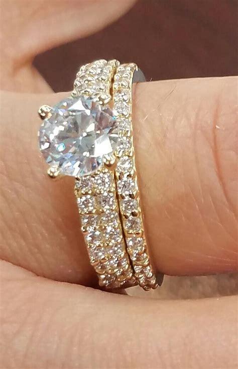 yellow gold   man  diamond engagement ring womens wedding
