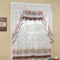 Cafe Style Kitchen Curtains Coffee Curtains For Kitchen
