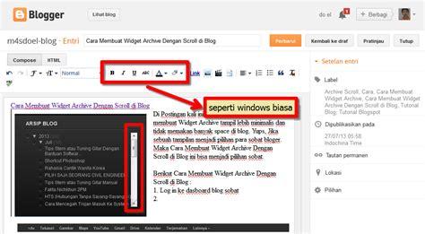 cara membuat video dan tulisan cara membuat post dan fungsi tool di blog m4sdoel blog