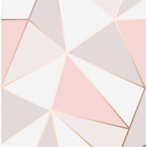 Stores With Home Decor Apex Geo Wallpaper Rose Gold Wallpaper B Amp M