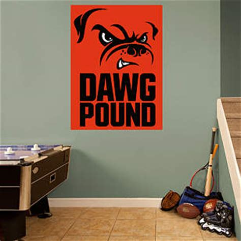 cleveland browns home decor cleveland browns dawg pound logo wall decal shop fathead