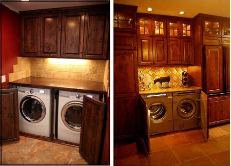 washer and dryer in kitchen dark cabinetry enclosing washer and dryer you could put