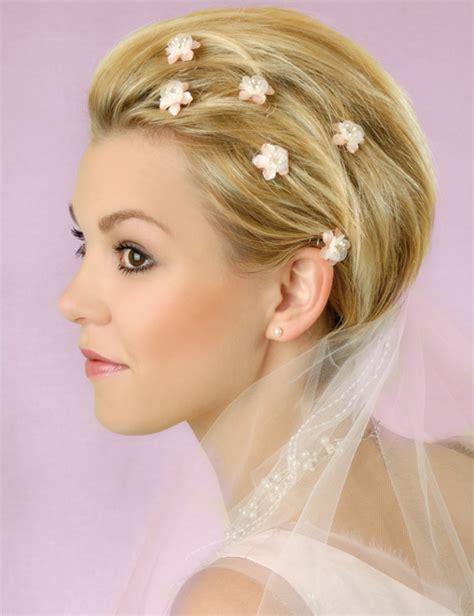Kurze Haare Hochzeitsfrisur by Brautfrisuren F 252 R Kurze Haare Haarschnitt Ideen Und