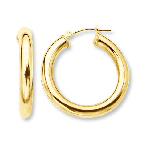 Gold Baby Bracelets With Name Kay Hoop Earrings 14k Yellow Gold 27mm
