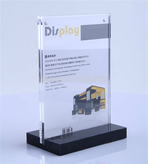 a5 acrylic magnetic table display stand holder acrylic