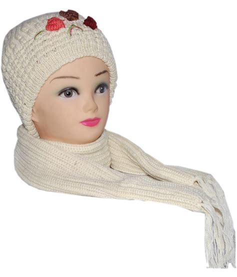 toppers for women snapdeal ellis cream cap with muffler for women buy online at low