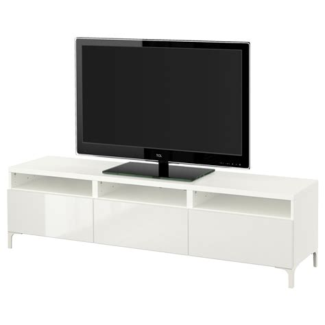 besta drawer best 197 tv bench with drawers white selsviken high gloss