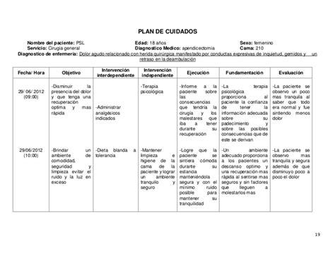 plan de cuidado de enfermeria para hipertension proceso atencion enfermeria quot apendicectomia quot
