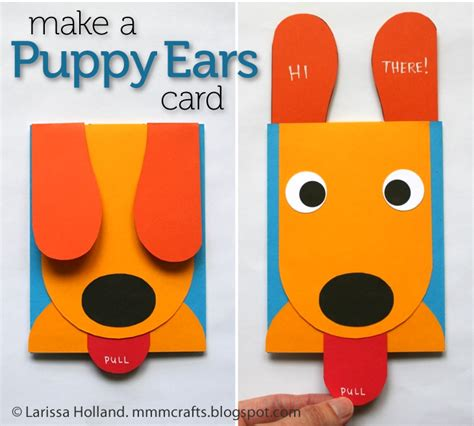 card craft mmmcrafts make a puppy ears card craft c