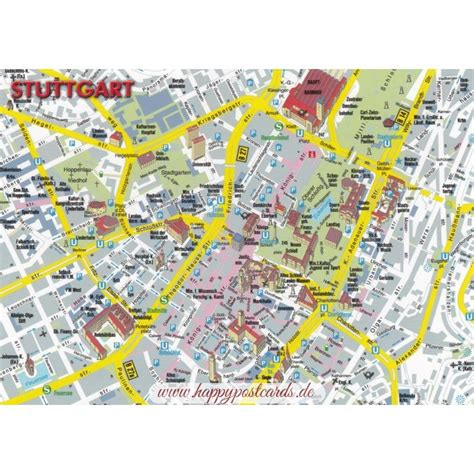 stuttgart on map ansichtskarten maps landkarten stuttgart map