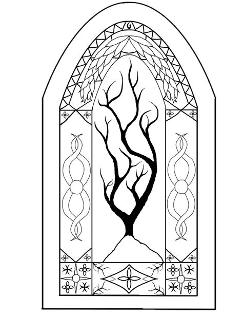 coloring pages stained glass free printable printable stained glass window coloring page coloring home