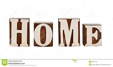 home letters stock image image 23244721
