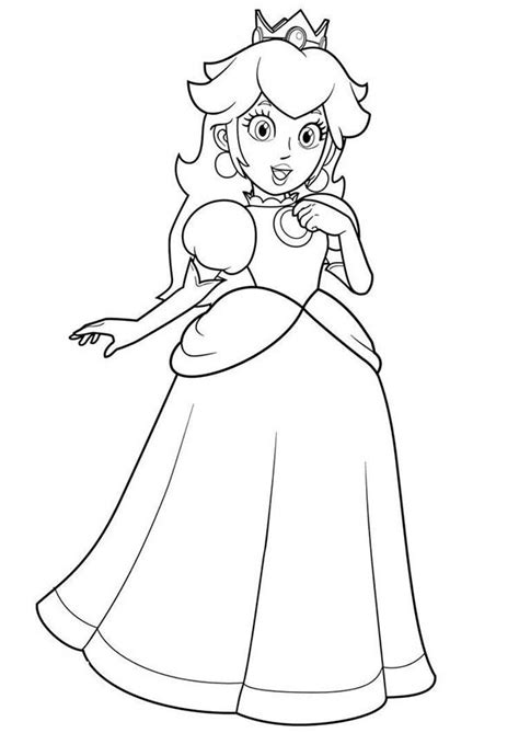 mario princess coloring pages princess peach coloring pages to download and print for free