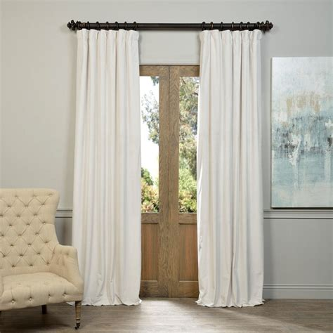white velvet curtain exclusive fabrics signature off white velvet blackout
