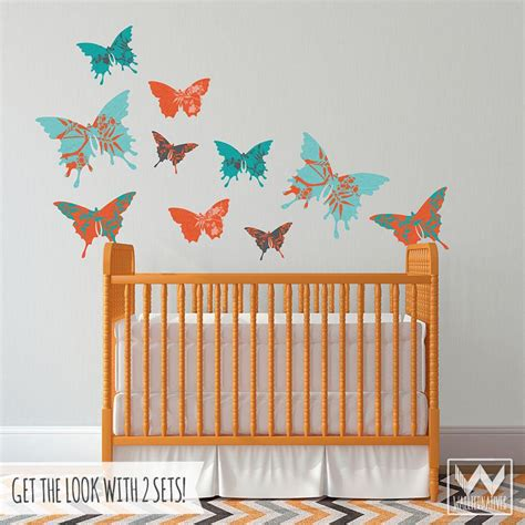 Butterfly Wall Decals For Nursery Butterfly Wall For Decorating Nursery Or Removable Decals Wallternatives