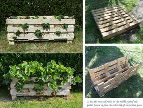 diy strawberry pallet planter home design garden