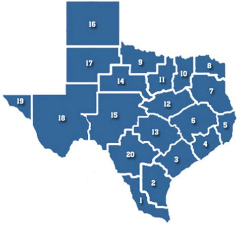 texas school region map texas school districts by region