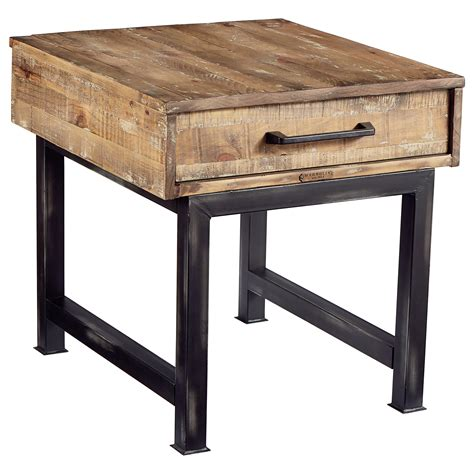industrial end table magnolia home by joanna gaines industrial pier and beam