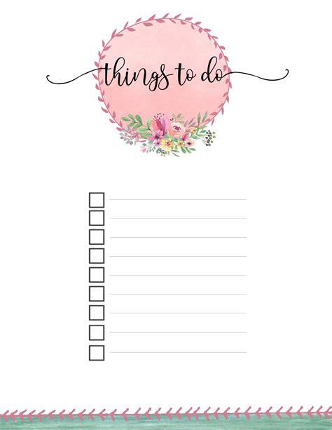 to do list calendar template print for zero cost