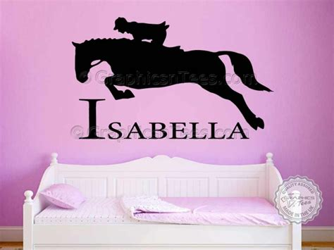 name stickers for bedroom walls personalised horse wall stickers boy girls bedroom