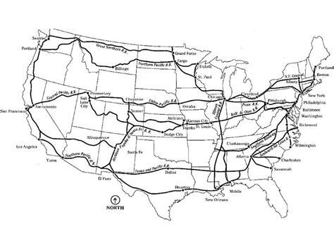 map us railroads american railroads
