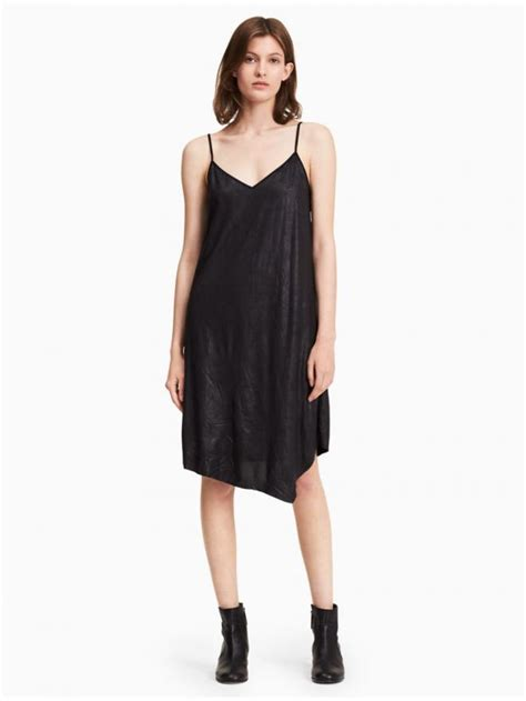 Dress Vicenza calvin klein dresses womens coated cami dress black