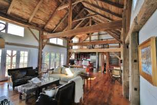 Barn Home Interiors by Green Mountain Timber Frames Vermont Barn Homes Interior