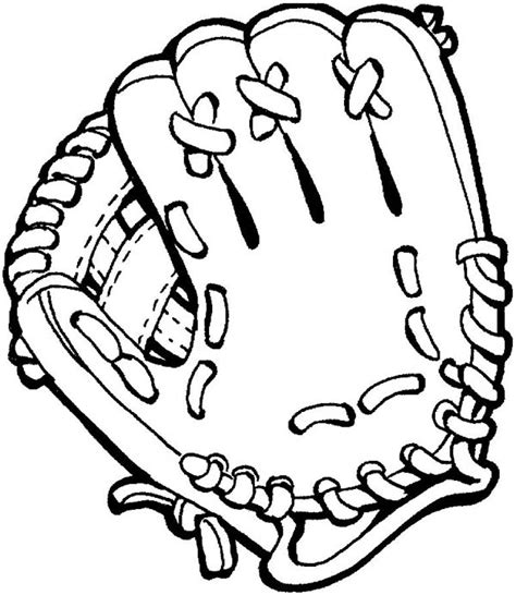 Baseball Glove Coloring Page baseball glove clipart black and white clipartsgram